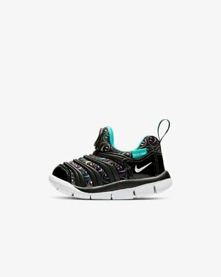 Nike Dynamo Free SE TD Black White Space Purple Toddler Infant Shoes  AA7217-003 a05ed98b2