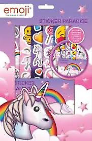 Emoji Unicorn Sticker Paradise Childrens Activity Set Party Bag Filler Gift