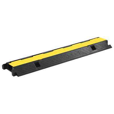 vidaXL Cable Protector Ramp 1 Channel Rubber 100cm Conduit Wire Road Cover#