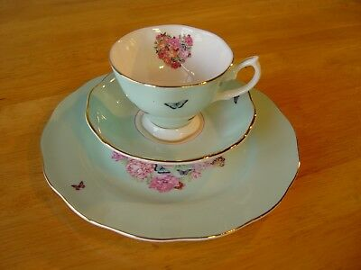 Miranda Kerr by Royal Albert  Blessings 3 Pc Tea Set- Cup Saucer Plate