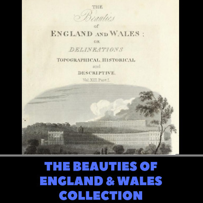 The Beauties of England and Wales - 25 PDF Books on Data DVD - Genealogy History