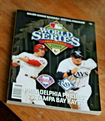 new product 2476a 3238e Mlb World Series Fall Classic 2008 Phillies V Rays Official Program