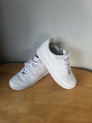e555f5ef2ed1 Unisex Genuine NIKE Court Force Low 1 All White Trainers UK size 9 Air euro  44