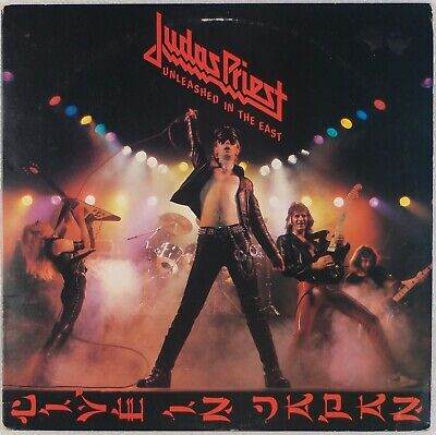 JUDAS PRIEST: Unleashed in the East, Live Japan US Columbia Hard Rock PROMO LP