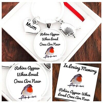In Loving Memory Gift, Angels Watching Over Me Keyring, Mum, Grandma, Grandad