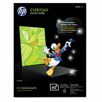 Everyday Photo Paper, 8 Mil, 5 X 7, Glossy White, 50/pack