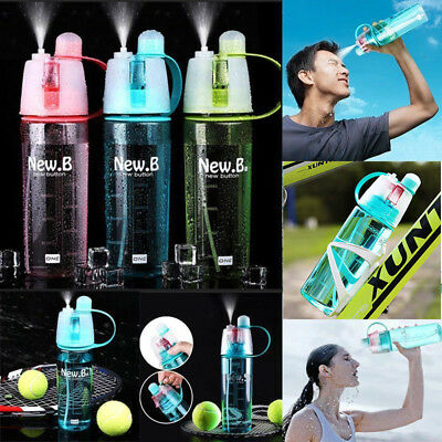 Sport Mist Spray Cooling Bottle Cycling Water Gym Beach Leak-proof Drinking Cup