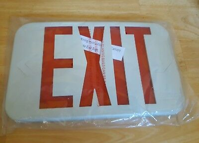 New Red Emergency Exit Sign - COVER ONLY 12 x 8
