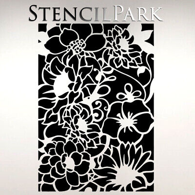 Flowers Layering Decor Art Craft Stencil Walls Furniture A5 A4 A3 253