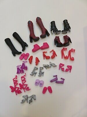Lot of 18 Pair of Barbie Shoes -