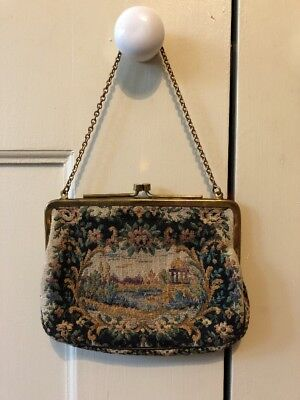 Vintage Tapestry Evening  Hand Bag - CRF Made In England