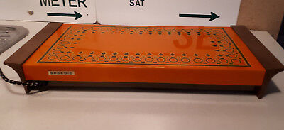 VINTAGE RETRO SPEEDIE ORANGE ELECTRIC FOOD/PLATE WARMER TRAY 70s