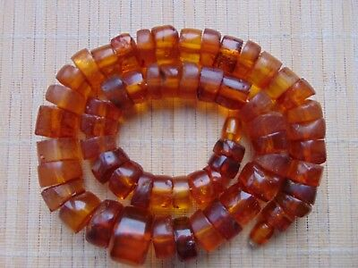 """Old Natural Honey Butterscotch Baltic Amber stones beads Necklace 95 gr 21"""" 52cm"""