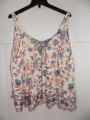 0b70319ca44 WTC8525 Jessica Simpson Women Plus Floral Lace Up Tank Top NWT Size 2X MSRP   59