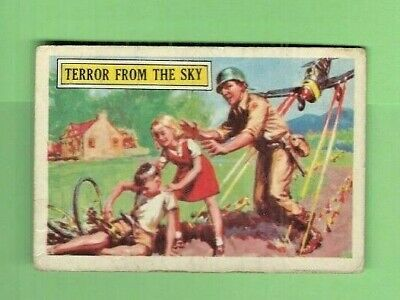 1965 A&bc (Not Topps) Battle Cards British  #35 Terror From The Sky Creased