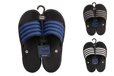 Men's Slip On Sport Slide Sandals Flip Flop Shower Shoes Slippers House Pool Gym