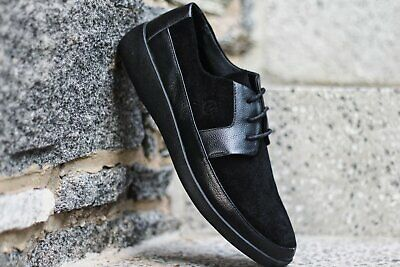 2f8f6717b24 Johnny Famous Men s Park West Black Suede Bally Style Casual Oxford Shoes