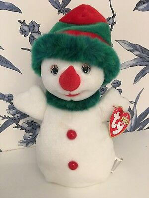 Retired Ty Beanie Babies Baby Snow girl New With Tag  2000