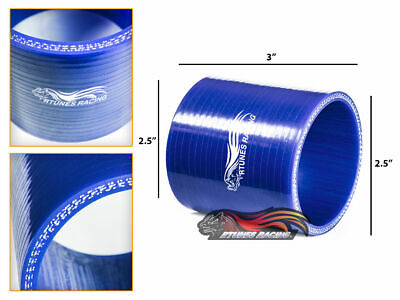 "2.5"" Silicone Hose/Intake/Intercooler Pipe Straight Coupler BLUE For Volkswagen"