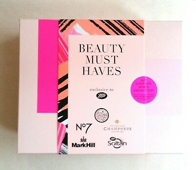 Boots Beauty Must Haves - box set of 6 items, No 7, Champneys, Soltan, Mark Hill