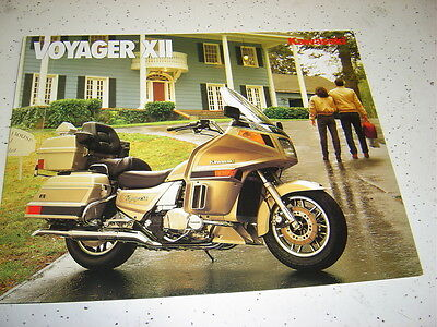 1  1989 Kawasaki Voyager Xll Brochure  NOS.Poster Type 8 Pages.