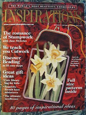 Inspirations Embroidery Magazine - Issue 31 - 2001 - Excellent Condition