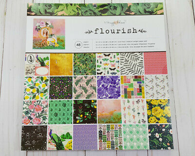 "Maggie Holmes Flourish Paper Pad 12"" x 12"" by Crate Paper Floral,Scrapboking"