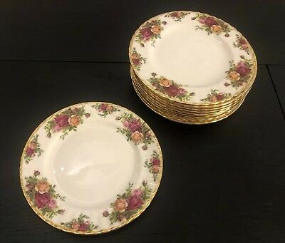 "10  Royal Albert OLD COUNTRY ROSES 8"" Salad Plates"