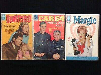 DELL TV Lot of 3 Comic Books - Bewitched, Car 54, Margie!
