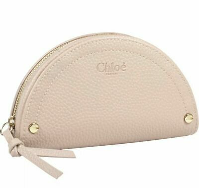Chloe Parfum Beige Zippered Cosmetic Bag Makeup Pouch New In Box