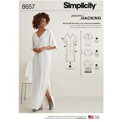 Simplicity Sewing Pattern 8657 Misses Xxs- Xxl Caftan Options for Design Hacking