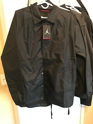 9be043c65d0 Nike Men's Air Jordan Wings Coaches Jacket BLACK 882893 010 Size LARGE NEW