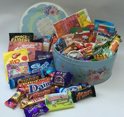 Personalised Retro Sweet Hamper Gift Box Selection Mixed Candy Birthday Xmas