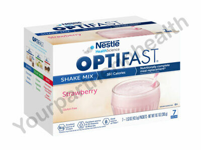 Optifast 800 Powder Shake | 1 Boxe | Strawberry | 7 Servings Fresh & New