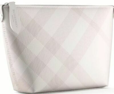 8a5f3a048d42 Burberry Beauty Beige   Tan   Nude Pouch Purse Toiletry Makeup Cosmetic Bag  NEW