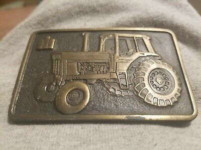 IH International Harvester Belt Buckle 1970s Vintage Tractor Spec Cast Rockford