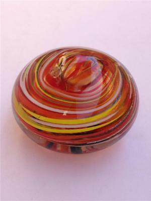 Vintage Multi-colored Swirl Art Glass Paperweight