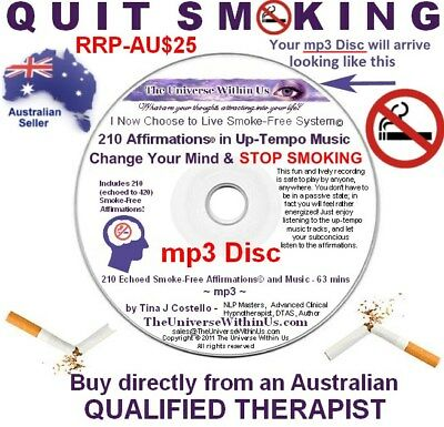 QUIT SMOKING STOP mp3 Disc 420 AFFIMATIONS with UPTEMPO MUSIC Effective Easy CD
