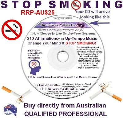 QUIT STOP SMOKING CD with 420 AFFIMATIONS echoed & UPTEMPO MUSIC Passive Results