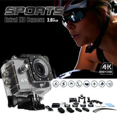 Brand New 4K 16MP HD Waterproof Action Camera WiFi Helemt Camcorder Pro Go Sport