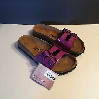 06ad8294bdb8 NWT Betula by Birkenstock Womens Purple Double-Buckle Sandals Size 37 L6