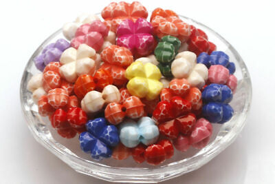 50 pcs Acrylic Colorful Jewelry Making Findings Charms Spacer Beads 6*11.5mm