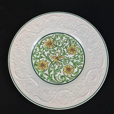 Wedgwood Patrician Art Nouveau Green Yellow ONE 10 5/8 Inch Dinner Plate