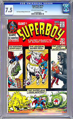 Superboy #174 Cgc 7.5 Curt Swan & Murphy Anderson Cover Art Giant Size 1971