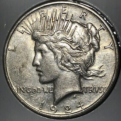 1924 Peace Silver Dollar! EXTREMELY FINE Original Coin!!!