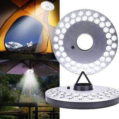 48 LED Outdoor Umbrella Night White Lamp Pole Light Patio Yard Garden Lawn BT