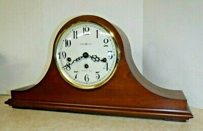 Howard Miller Westminster Chime Tambour Mantel Clock 612-439 Working with Key