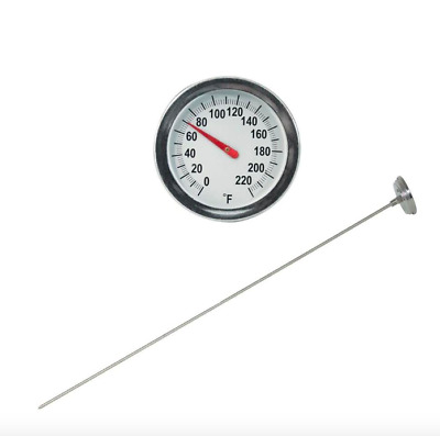 General Tools Analog Soil Garden Thermometer 20 inch Stainless Steel Probe Stem
