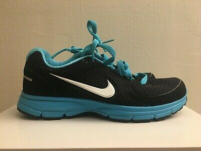 9024e1188096 NIKE AIR RELENTLESS Womens Athletic Shoes 443861-011 Size 8 Black Blue  EXCELLENT