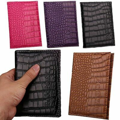 PU Leather Cover ID Credit Card Holder Business Passport Holder Card Holder